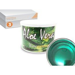 Cera epilazione liposolubile Aloe Vera Wax 3 vasi da 400 ml cad.