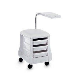 Sgabello con ruote Mini Mani art 110 bianco