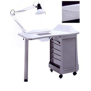 Tavolo manicure art 124LX con ASPIRATORE bianco