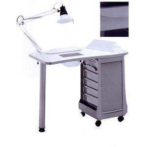 Tavolo manicure art 124LX con ASPIRATORE metal grey
