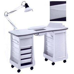 Tavolo manicure art 127LX double vented con ASPIRATORE bianco