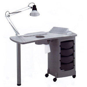 Tavolo manicure art 164LX Luxe Vented metal grey