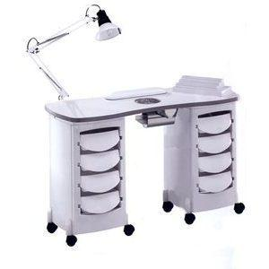 Tavolo manicure art 167LX Luxe Double Vented bianco