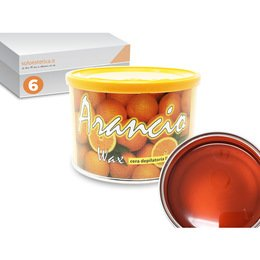 Cera epilazione liposolubile Arancio Wax 6 vasi da 400 ml cad.