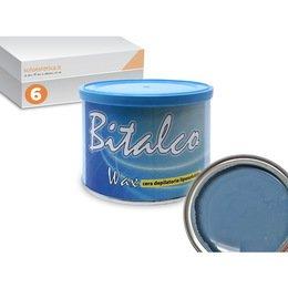 Cera epilazione liposolubile Bitalco Wax 6 vasi da 400 ml cad.