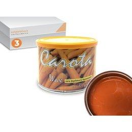 Cera epilazione liposolubile Carota Wax 3 vasi da 400 ml cad.