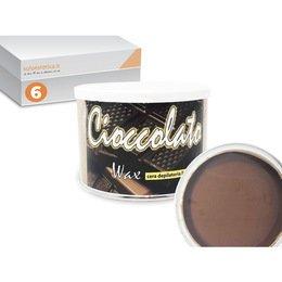 Cera epilazione liposolubile Cioccolato Wax 6 vasi da 400 ml cad.