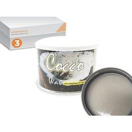 Cera epilazione liposolubile Cocco Wax 3 vasi da 400 ml cad.