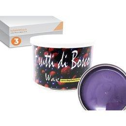Cera epilazione liposolubile Frutti di Bosco Wax 3 vasi da 400 ml cad.
