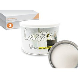 Cera epilazione liposolubile Latte Wax 3 vasi da 400 ml cad.