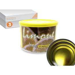 Cera epilazione liposolubile Limone Wax 3 vasi da 400 ml cad.