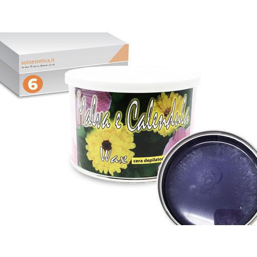 Cera epilazione Malva e Calendula 6 vasetti da 400 ml. liposolubile