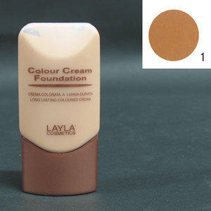 Colour Cream Foundation a lunga durata nr. 1 Layla 30 ml