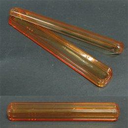 Porta spazzolino Crystal arancio trasparente Art. 170