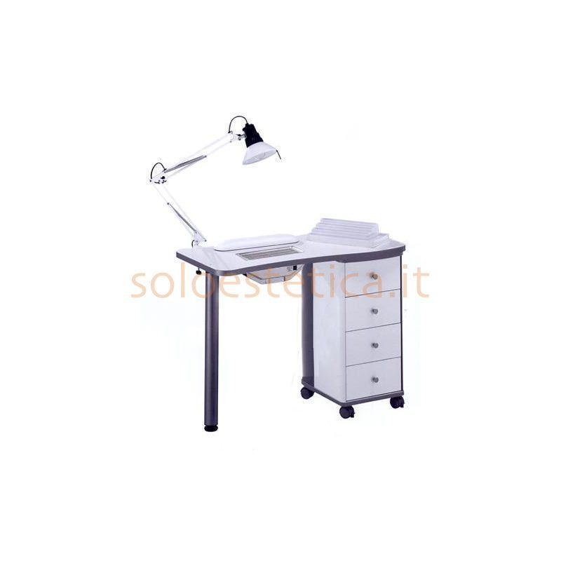 Tavolo manicure art 204lx con aspiratore bianco - Tavolo ricostruzione unghie con aspiratore usato ...