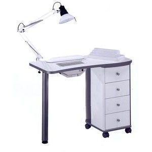 Tavolo manicure art 204LX con aspiratore bianco