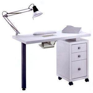 Tavolo manicure art 304LX con aspiratore bianco