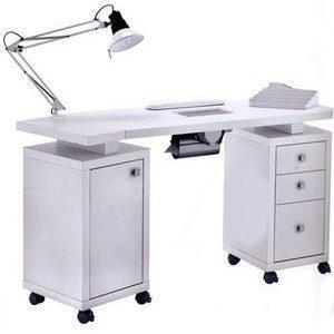 Tavolo manicure art 317LX con aspiratore bianco