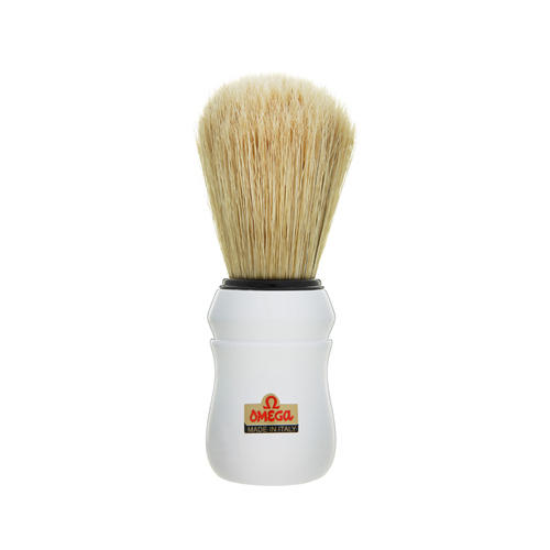 Pennello da Barba professionale Omega manico bianco 49