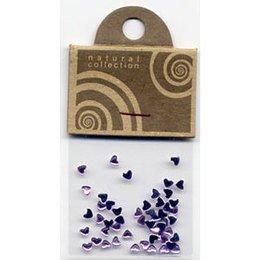 Natural Collection Brillantino unghie cuore lilla