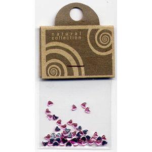 Natural Collection Brillantino unghie cuore rosa antico