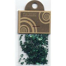 Natural Collection Decoro unghie cuori traforati verde