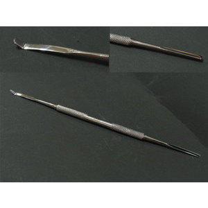 Spatolina inox manicure doppia 803014 Wictor