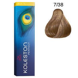 Tintura per capelli Koleston Perfect 7/38 60 ml Wella