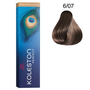 Koleston Perfect 6/07 Pure Natural 60 ml Wella biondo scuro naturale sabbia