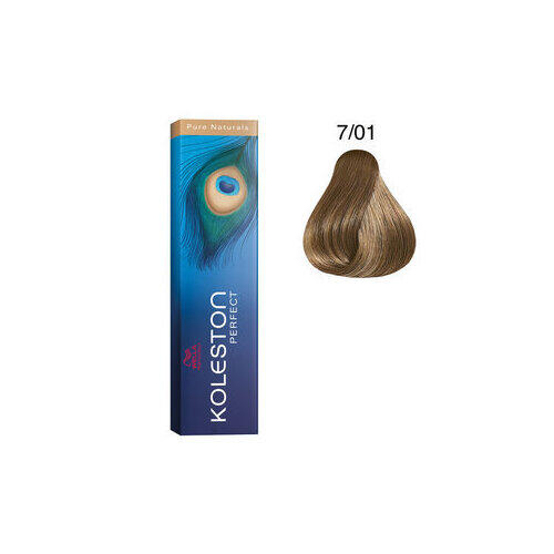Koleston Perfect 7/01 Pure Natural 60 ml Wella biondo medio naturale cenere