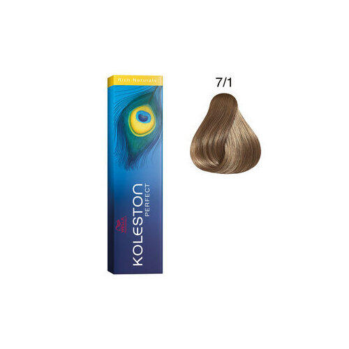 Tintura per capelli Koleston Perfect ME+ 7/1 60 ml Wella