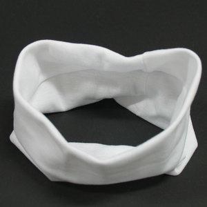 Fascia per capelli larga bianca 5050323-01