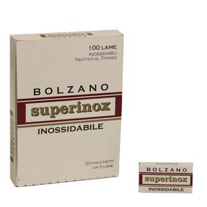 Lame Bolzano Superinox 20 pacchetti da 5 lame ciascuno