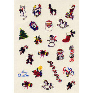 Water Decal decoro nail art WD31 Xmas
