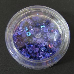 Decori per unghie quadratini forati blu notte metallizzato 7228