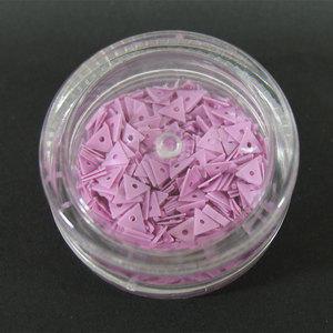 Decori per unghie triangoli forati rosa antico