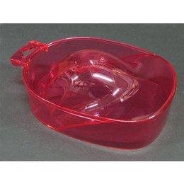 Vaschetta per manicure trasparente rossa