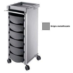 Carrello Compatto grigio metallizzato