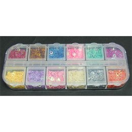 Decori per unghie pentagoni forati 12 colori