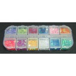 Decori per unghie gocce 12 colori