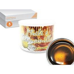Cera epilazione liposolubile Miele e Camomilla Wax 3 vasi da 400 ml cad.
