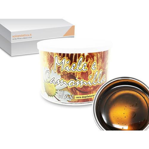 Cera epilazione Miele e Camomilla Wax liposolubile vaso 400 ml.