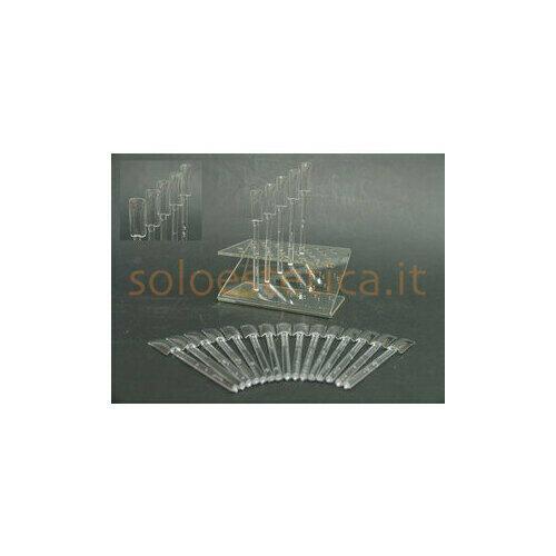 Display espositore per nail art con bastoncini trasparenti piccolo 32 fo