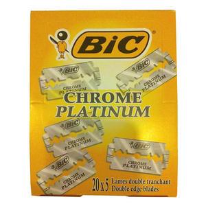 Lamette BIC Chrome Platinium 100 pz