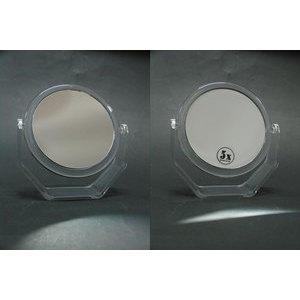 Specchio doppio 5 ingr. 15 cm. trasparente Sinelco