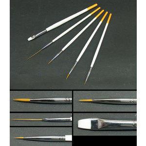 Set 5 pennelli per nail art