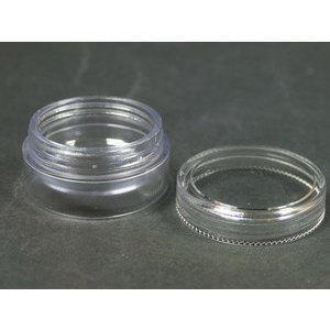 Vasetto Contenitore trasparente diametro cm 3,8