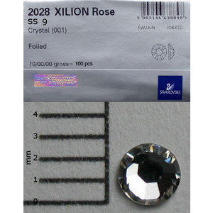 Brillantini Swarovski 100 pz. crystal SS9
