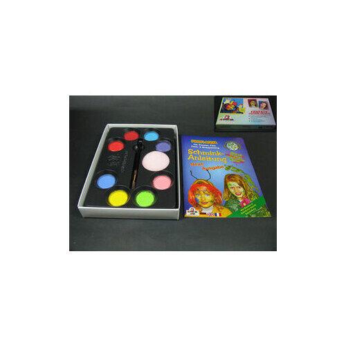 Set Profi Aqua Fantasy 8 Colori+Pennello+Spugna Eulenspiegel