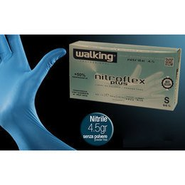 Guanti Nitroflex Plus Walking senza polvere misura Small 100 pz.